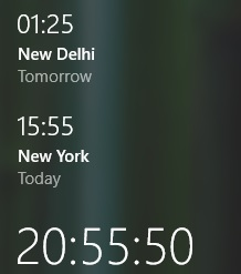 windows 10 clock time zones