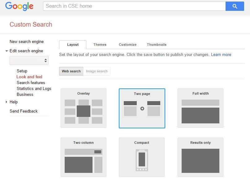 replace WordPress search with Google Custom Search